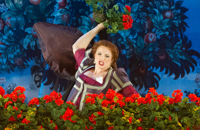 Jeni Bern in Kiss Me, Kate at the Grand Theatre, Leeds. Photo: Alastair Muir
