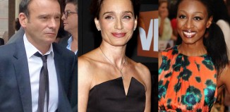 Kristin Scott Thomas, Matthew Warchus and Beverley Knight. Photos: Featureflash/Tinseltown/Shutterstock