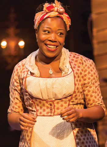 Michele Austin in Sheffield Theatres' Pride and Prejudice this summer. Photo: Johan Persson