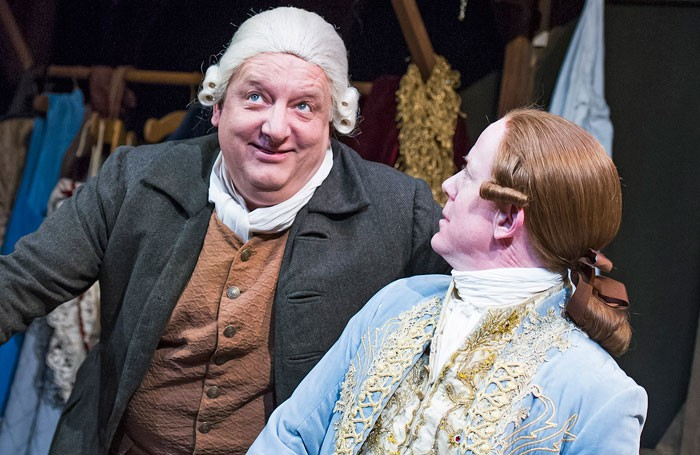 Simon Russell Beale and Ian Kelly in Mr Foote's Other Leg at Hampstead Theatre. Photo: Tristram Kenton