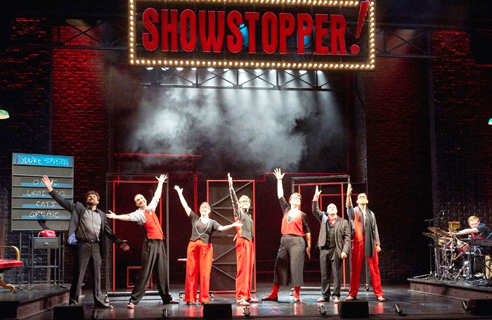 A scene from Showstopper! The Improvised Musical. Photo: Geraint Lewis