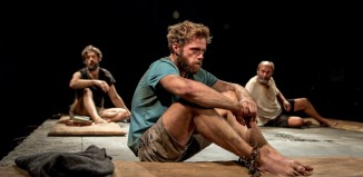 Adam Rayner, Rory Keenan and David Haig in Someone Who'll Watch Over Me. Photo: Manuel Harlan