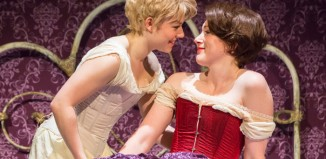 Sally Messham and Laura Rogers in Tipping the Velvet at the Lyric Hammersmith. Photo: Johan Persson