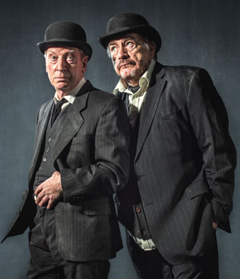 Lyceum stalwarts Bill Paterson and Brian Cox in Waiting for Godot. Photo: Laurence Winram