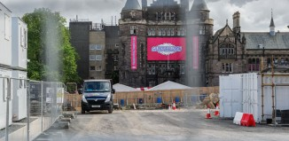 Bristo Square site in Edinburgh, where festivals have seen record audiences this year. Photo: Alex Brenner