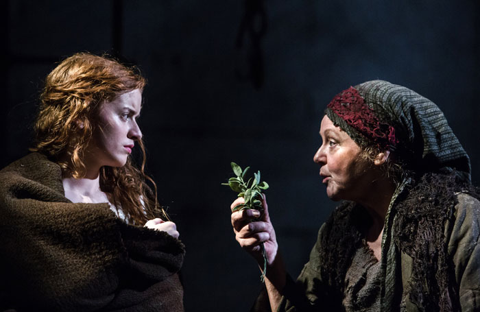 Hannah Hutch and Amanda Bellamy in Jane Wenham: The Witch of Walkern. Photo: Richard Davenport
