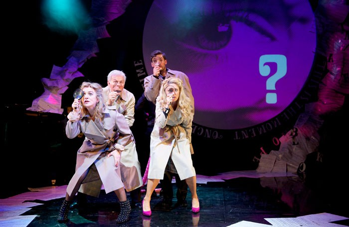 Siobhan McCarthy, Dave Willetts, Niall Sheehy and Julie Atherton in Pure Imagination – The Songs of Leslie Bricusse at St James Theatre. Photo: Annabel Vere