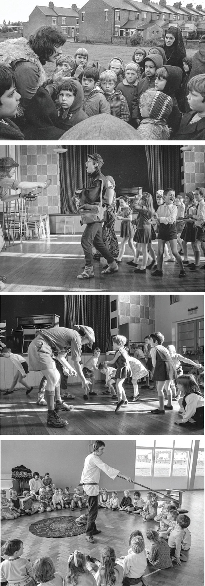 Theatre in education in the 1960s. Photos: Tony Baker