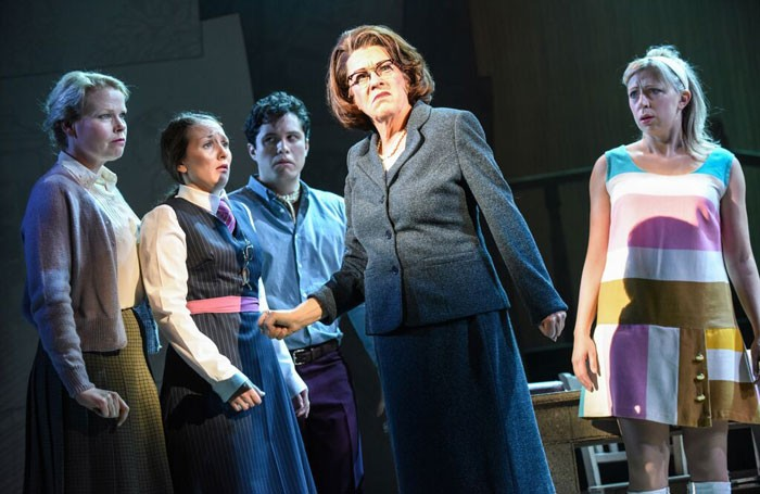 Sara Crowe, Georgia Oldman, James Meunier, Rosemary Ashe and Kirsty Malpass in Crush. Photo: Robert Day