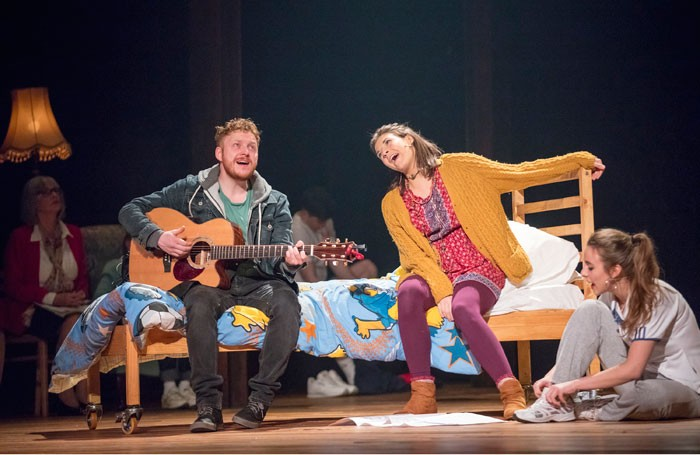 Ryan Fletcher, Cassie Webb and Joanne Thomson in The Choir at the Citizens Theatre, Glasgow. Photo: James Glossop