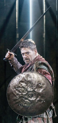 Branagh in Macbeth at the Manchester International Festival 2013. Photo: Johan Persson