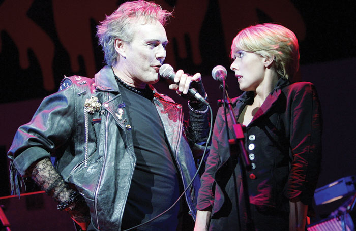 Head in a tribute performance of The Rocky Horror Show in 2006 with Sophie Lawrence. Photo: Tristram Kenton
