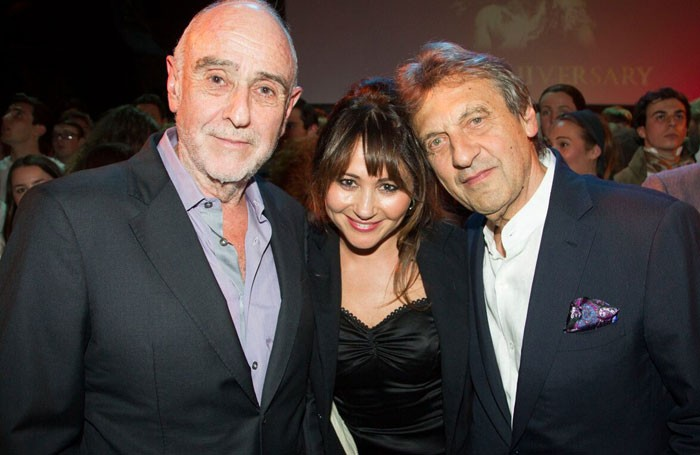 Claude-Michel Schonberg (left) at the Les Miserables 30th anniversary on October 8, 2015. Photo: Dan Wooller