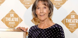 Eileen Atkins with the Gielgud award for excellence in the dramatic arts at the UK Theatre Awards 2015. Photo: Pamela Raith