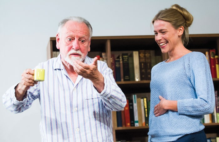 Kenneth Cranham and Kirsty Oswald in The Father at the Wyndham's Theatre, London. Photo: Tristram Kenton