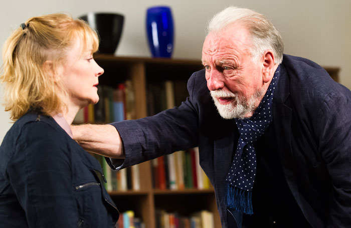 Claire Skinner and Kenneth Cranham in The Father at Wyndhams Theatre, London. Photo: Tristram Kenton