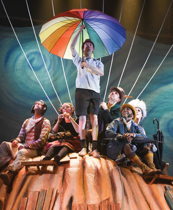 Scene from Wood's adaptation of Roald Dahl's James and the Giant Peach at the Mercury Theatre, Colchester, earlier this year. Photo: Robert Day
