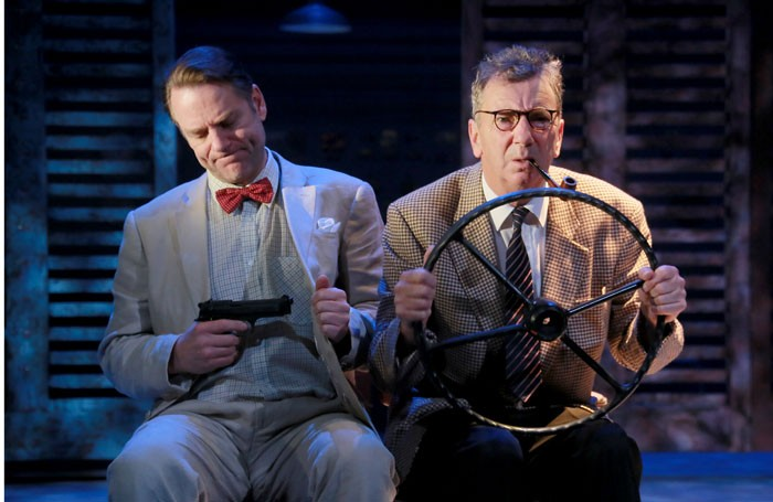 Andrew Loudon and Roger Delves-Broughton in Our Man in Havana at the Pitlochry Festival Theatre. Photo: Douglas McBride