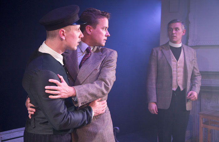 Adam Lilley, Alexander Huetson and Christopher Hines in Encounter at Above the Stag, London, Photo: PicsByGaz