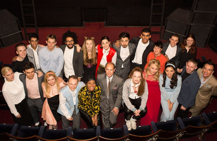 Prince Edward and the cast of the National Youth Theatre West End rep season 2015. Photo: Helen Maybanks