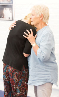 Judi Dench in rehearsal for The Winter's Tale. Photo: Johan Persson