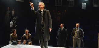 Rob Edwards (centre) in An Enemy of the People at Bolton Octagon. Photo: Ian Tilton
