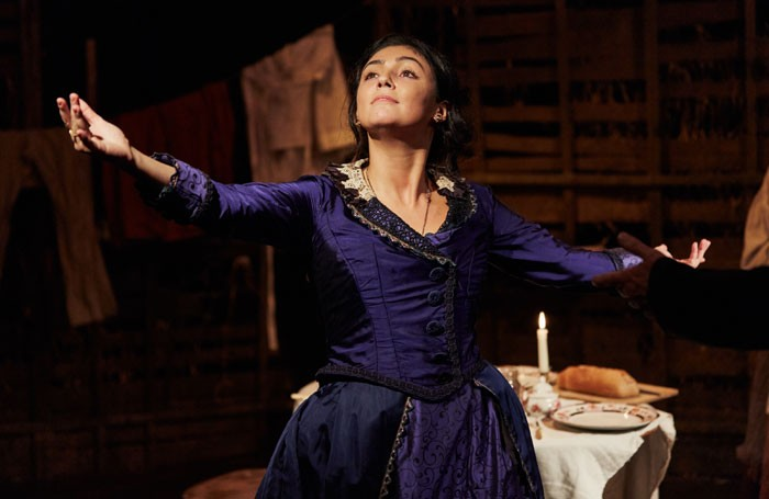 Olivia Bernstone in Treasure at Finborough Theatre, London. Photo: Richard Lakos