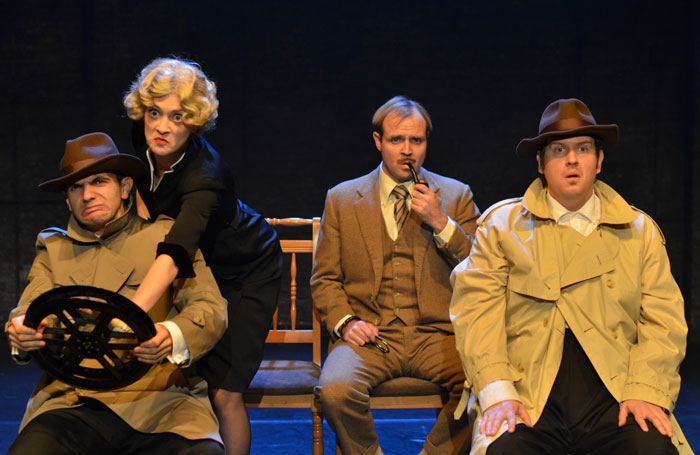 Scene from The 39 Steps performed by Black Rat Productions. Photo: Marina Newth