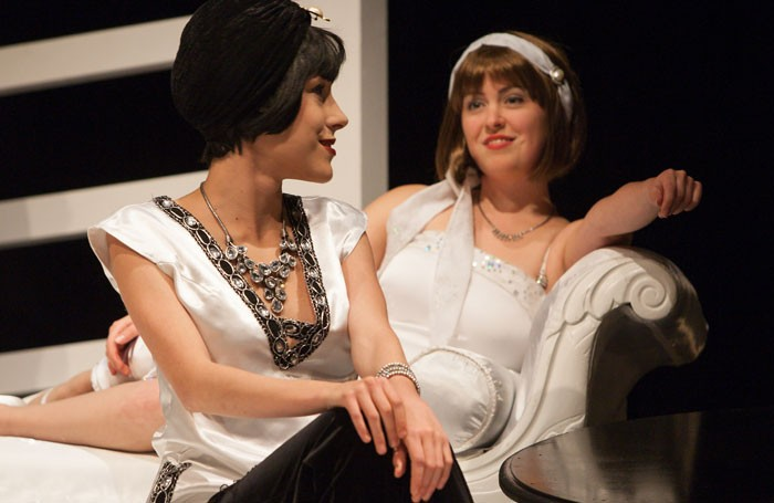 Celeste de Veazey and Celia Cruwys Finnigan in The Great Gatsby at Greenwich Theatre, London. Photo: Mark Holiday