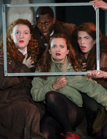 Rose Bruford students performing Britain Ltd, a piece devised with Theatre Ad Infinitum. Photo: Robert Workman