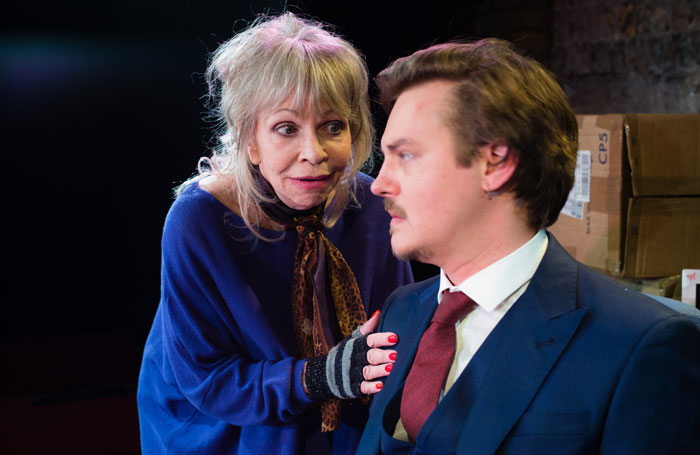 Katy Manning and Tristan Beint in Nobody's Business at the King's Head Theatre. Photo: Chris Tribble