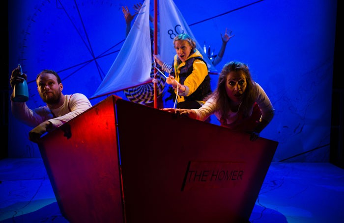Edward Hughes, Sarah Minns and Flora McIntosh in Ulla's Odyssey at Kings Place. Photo: Christopher Tribble