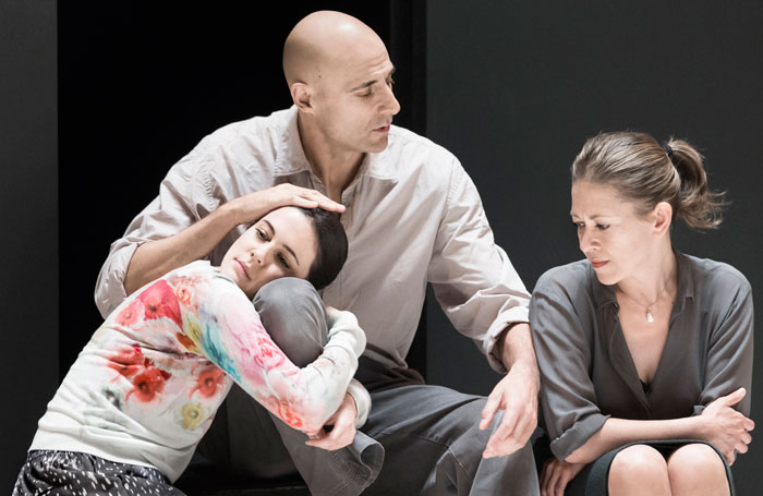 Phoebe Fox, Mark Strong and Nicola Walker in A View From A Bridge. Photo: Jan Versweyveld