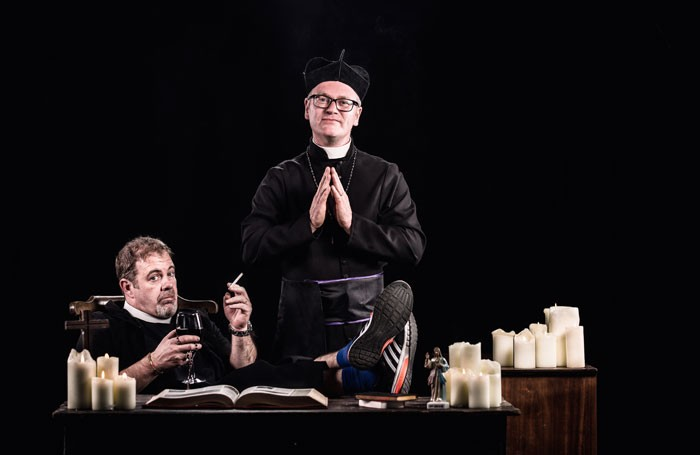 Alan McKee and Conor Grimes in the Lyric Theatre's recently launched comedy club, Sunday Service