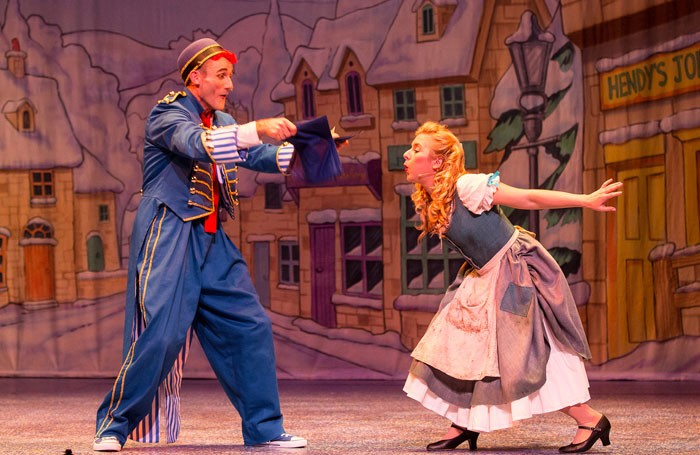 Tweedy and Ruth Betteridge in Cinderella at the Everyman Theatre, Cheltenham. Photo: Farrows Creative