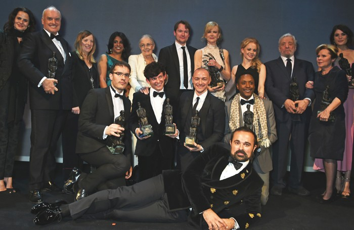Evgeny Lebedev with the award winners. Photo: Dave Benett