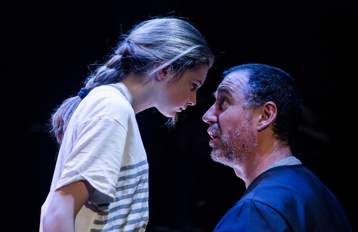 Eleanor Worthington-Cox and Brian Doherty in Tomcat at the Southwark Playhouse. Photo: Richard Davenport
