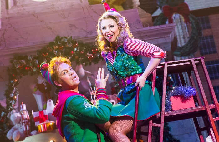 Ben Forster and Kimberley Walsh in Elf the Musical at the Dominion Theatre.