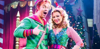 Kimberley Walsh and Ben Forster in Elf the Musical at the Dominion Theatre.