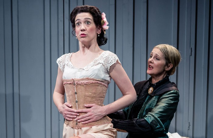 Zoe Teverson and Prue Clarke in Gigi at Tabard Theatre, London. Photo: Richard Davenport