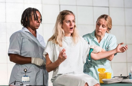 Jacqui Dubois, Denise Gough and Sally George in People, Places and Things at the National Theatre, London. Photo: Johan Persson