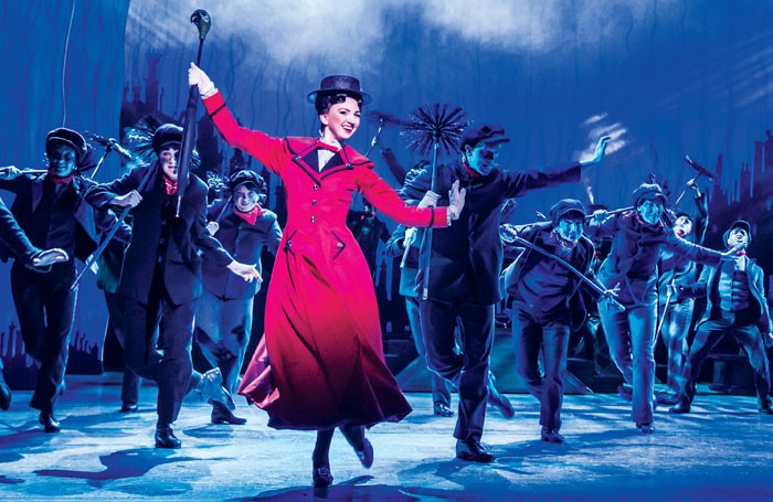 Zizi Strallen in Mary Poppins at the Hippodrome, Bristol. Photo: Johan Persson