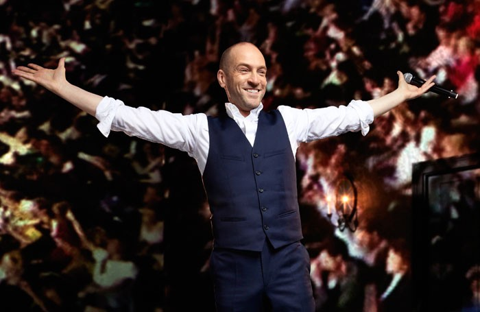 Derren Brown in Miracle at the Palace Theatre. Photo: Seamus Ryan