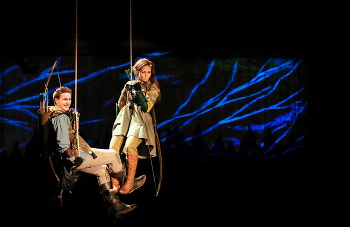 Isaac Stanmore and Crystal Condie in Robin Hood and Marian at the New Vic. Photo: Andrew Billington