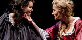 Emma Cunniffe and Natascha McElhone in Queen Anne at the Swan Theatre, Stratford-upon-Avon. Photo: Manuel Harlan