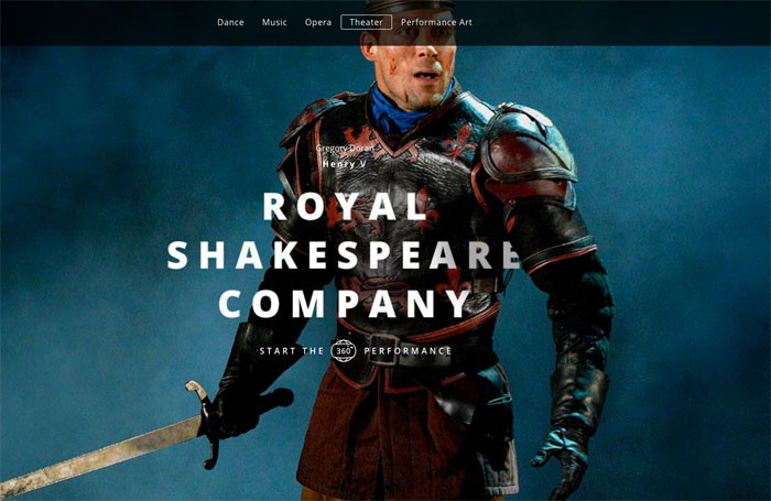 The digital exhibition features an immersive video of the Royal Shakespeare Company's Henry V. Photo: Google