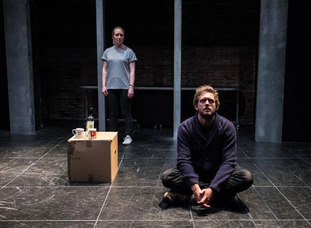 Lucy Fyffe and Tom Durant-Pritchard in Natasha Tripney's Restoration at the Arcola Theatre