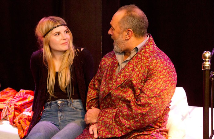 Samantha Dakin and Paul Easom in The Screenwriter's Daughter at Leicester Square Theatre Lounge, London. Photo: Henika Thompson