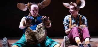 Stephen Bangs and Matthew Forbes in The Witches at Dundee Rep. Photo: Tommy Ga-Ken Wan