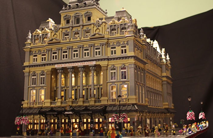 Irish artist Jessica Farrell has built Her Majesty's Theatre out of Lego